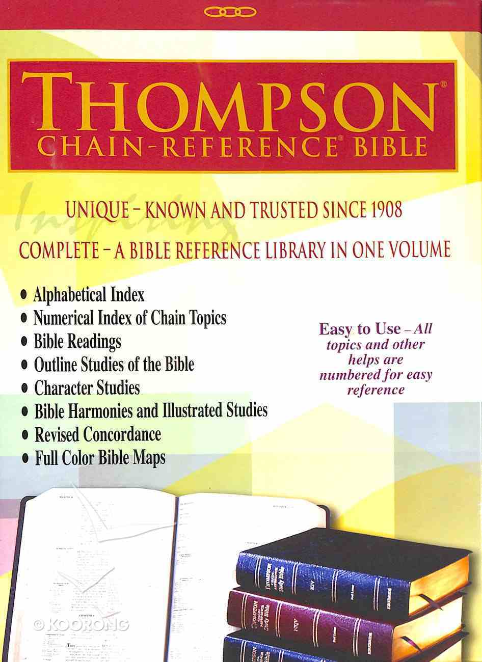 KJV Thompson-Chain Reference Bible Blue (Red Letter Edition) Bonded Leather