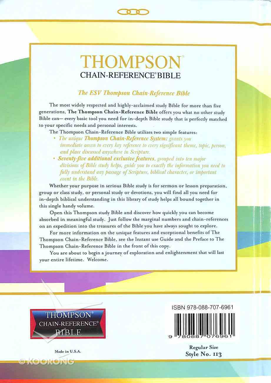 ESV Thompson Chain-Reference Bible (Red Letter Edition) Hardback
