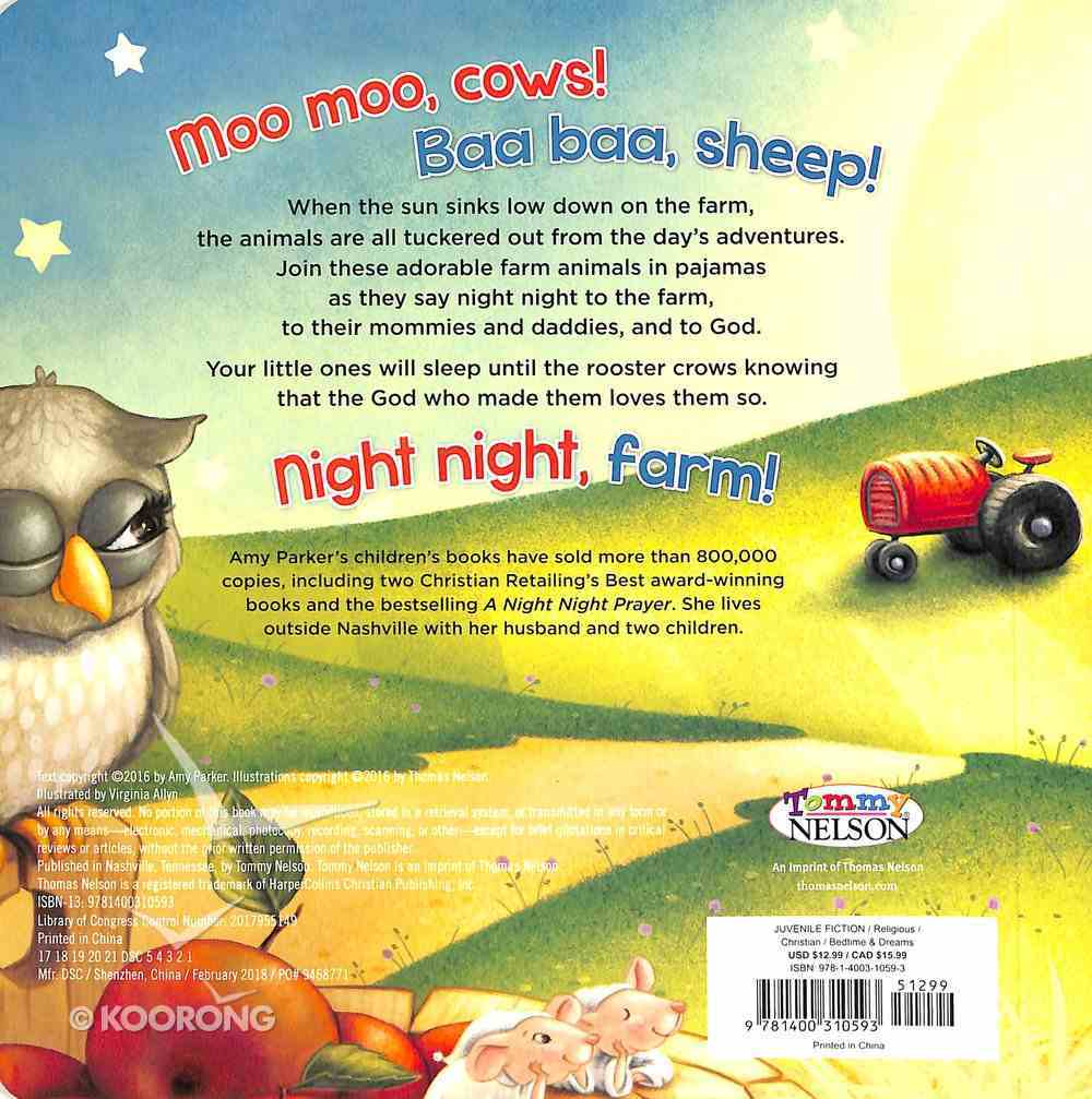 Night Night, Farm Touch and Feel (Night, Night Series) Board Book