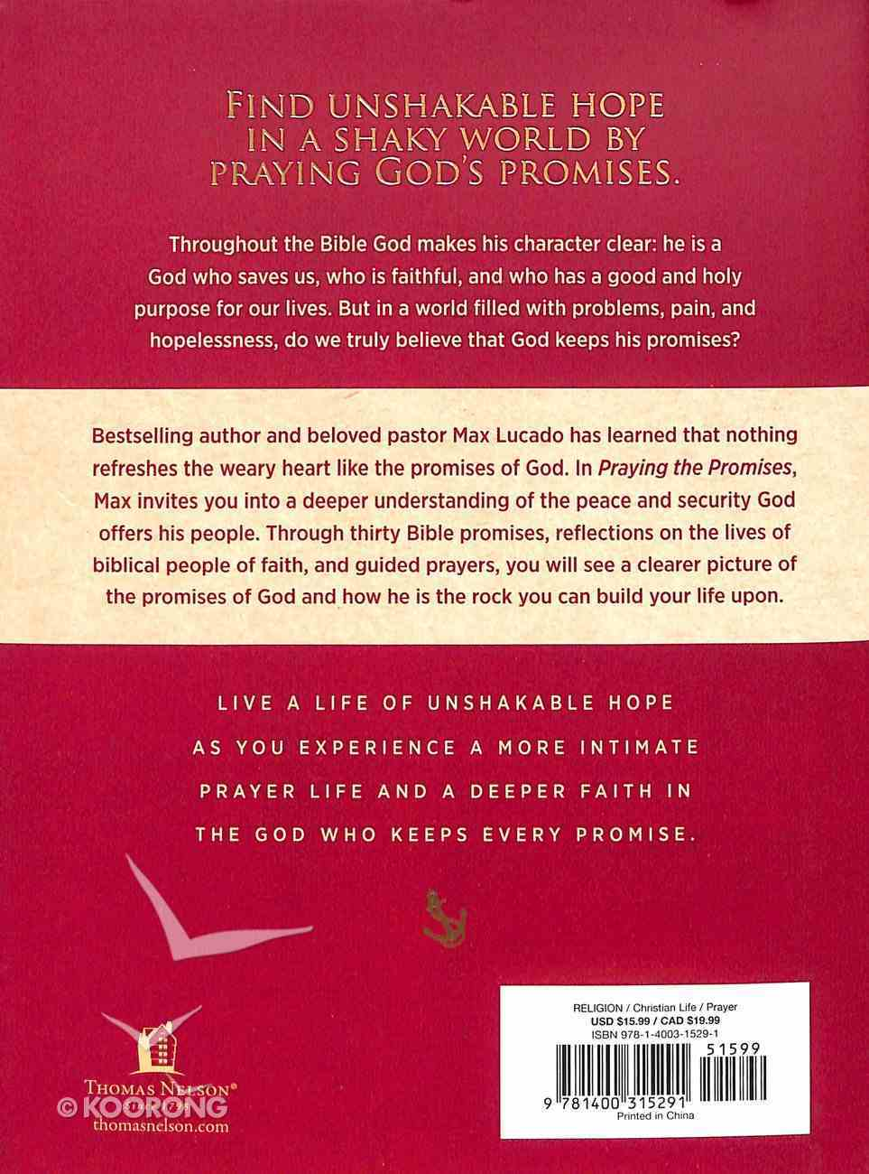 Praying the Promises: Anchor Your Life to Unshakable Hope Hardback