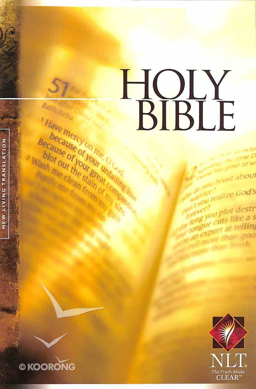 NLT Holy Bible Text Edition (Black Letter Edition) Paperback