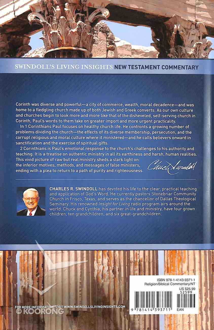 Insights on 1&2 Corinthians (Swindoll's Living Insights New Testament Commentary Series) Hardback