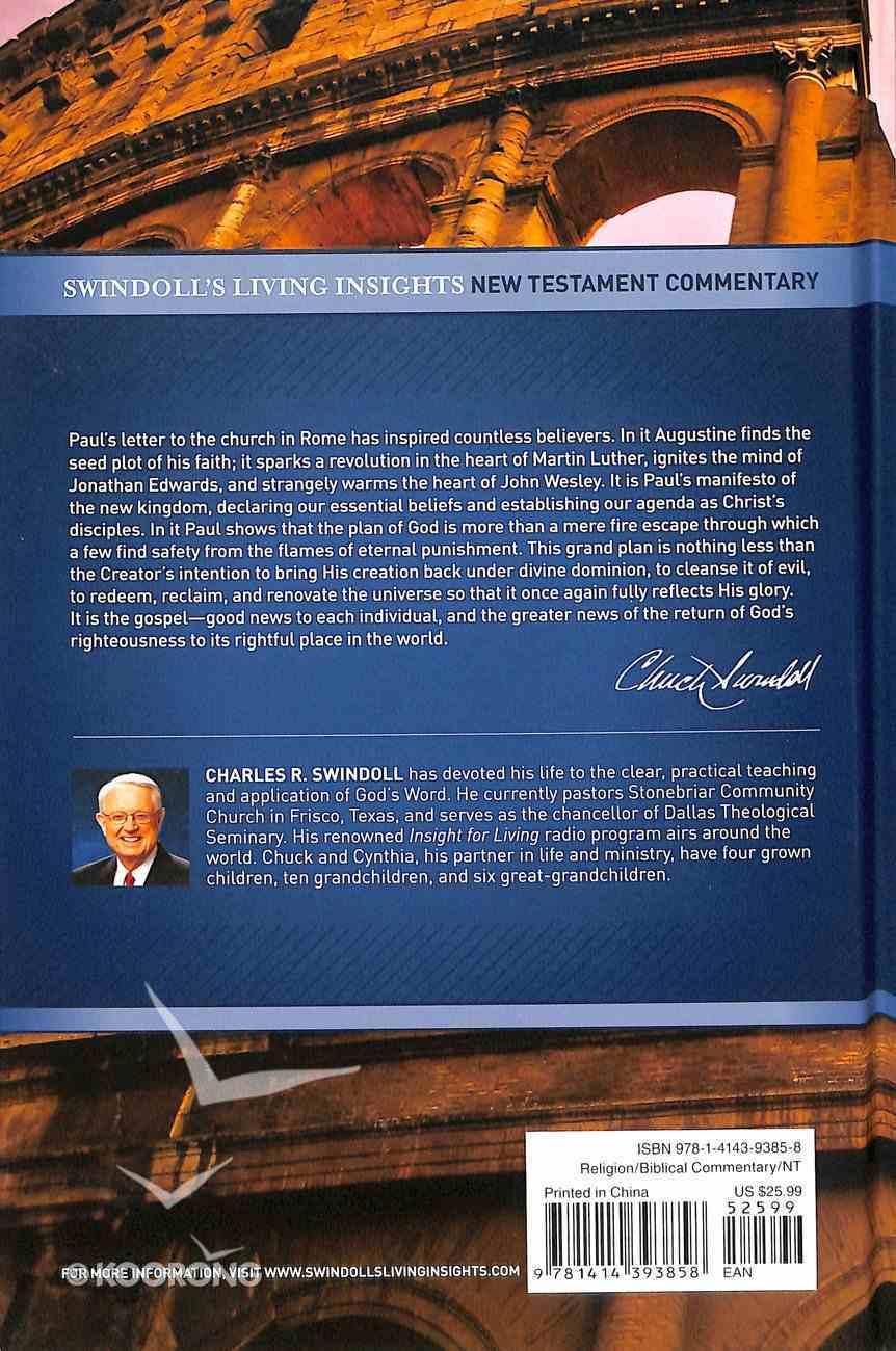 Insights on Romans (Swindoll's Living Insights New Testament Commentary Series) Hardback