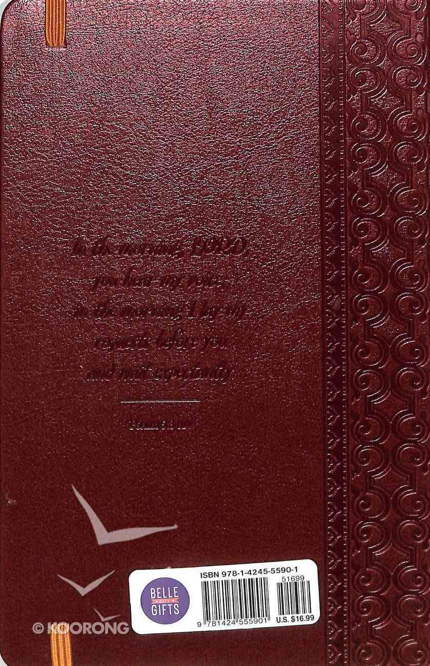 Journal: Walking With Jesus Red/Gold Imitation Leather