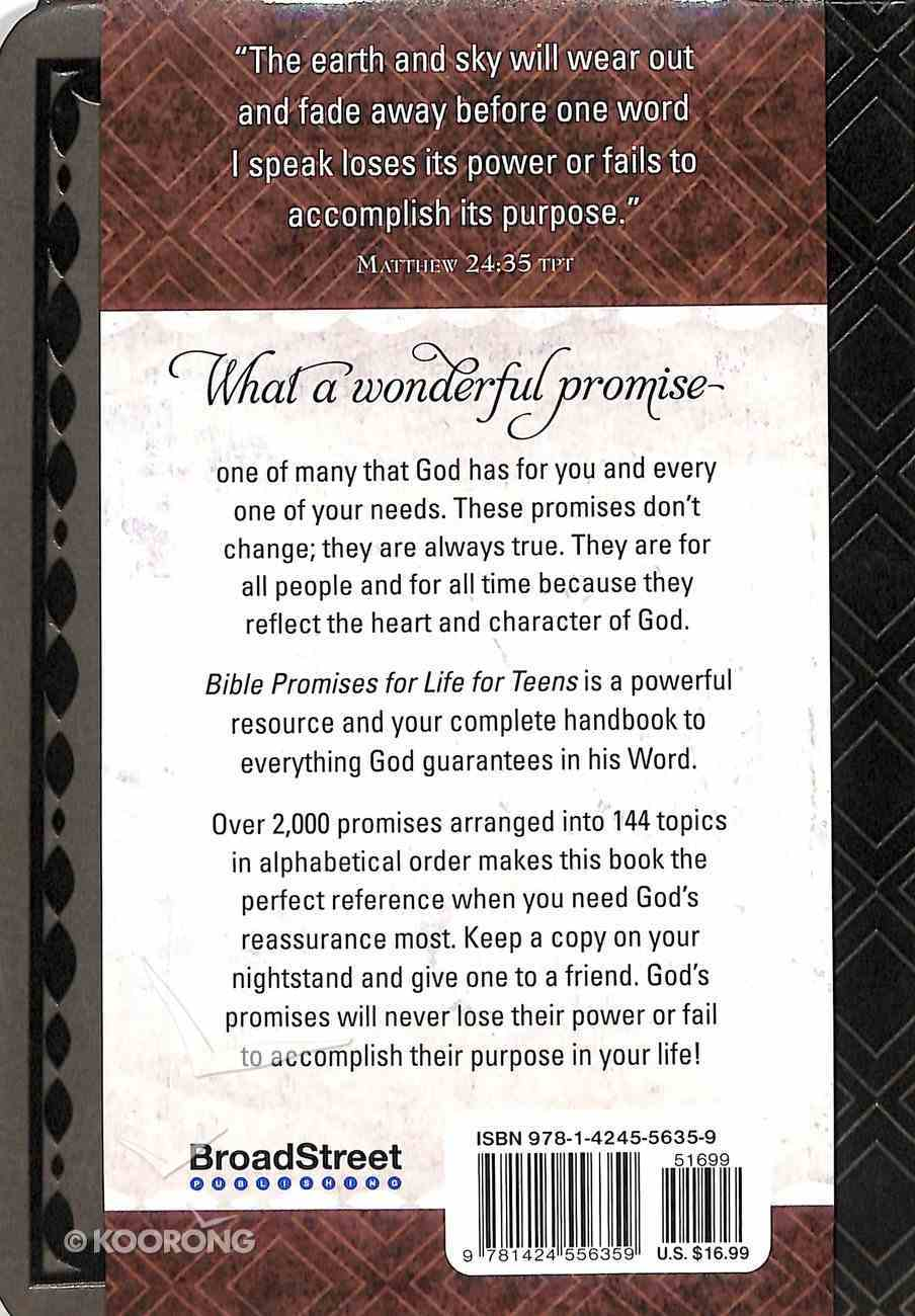 Bible Promises For Life: The Ultimate Handbook For Your Every Need (For Teens) Imitation Leather