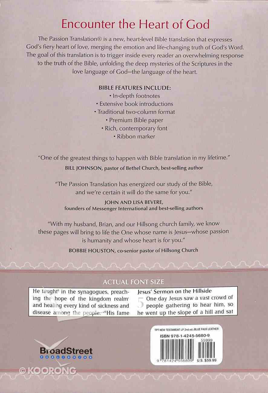 TPT New Testament Large Print Navy (With Psalms Proverbs And The Song Of Songs) Imitation Leather