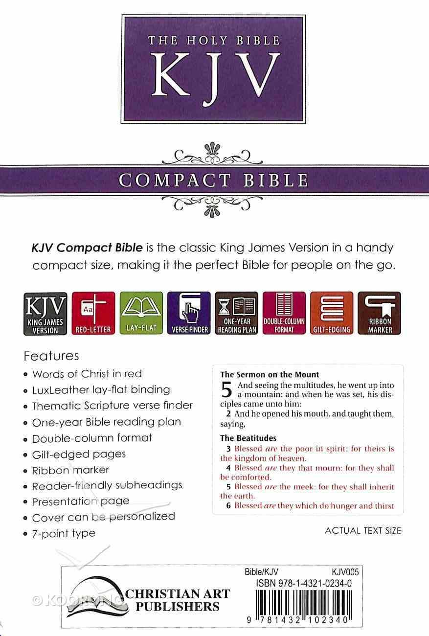 KJV Pocket Bible Brown (Red Letter Edition) Imitation Leather