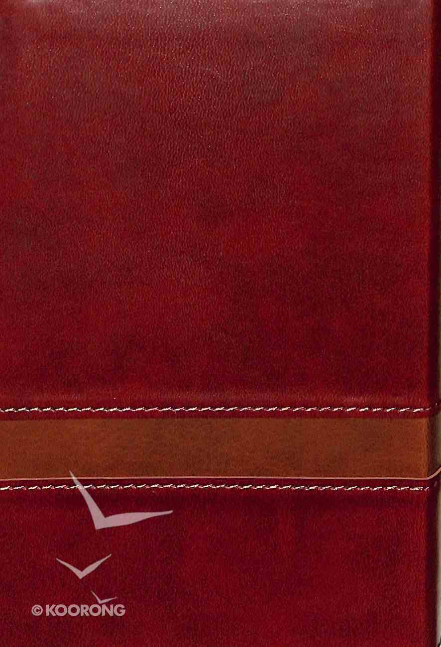 KJV Large Print Compact Bible Brown Red Letter Edition Imitation Leather