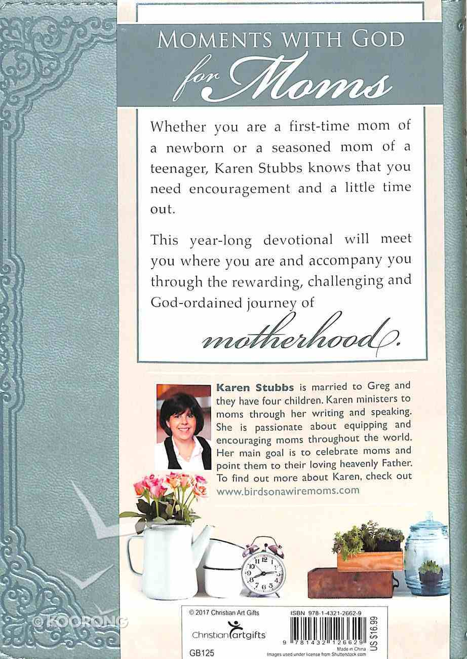 Moments With God For Moms (Light Blue Luxleather) (365 Daily Devotions Series) Imitation Leather