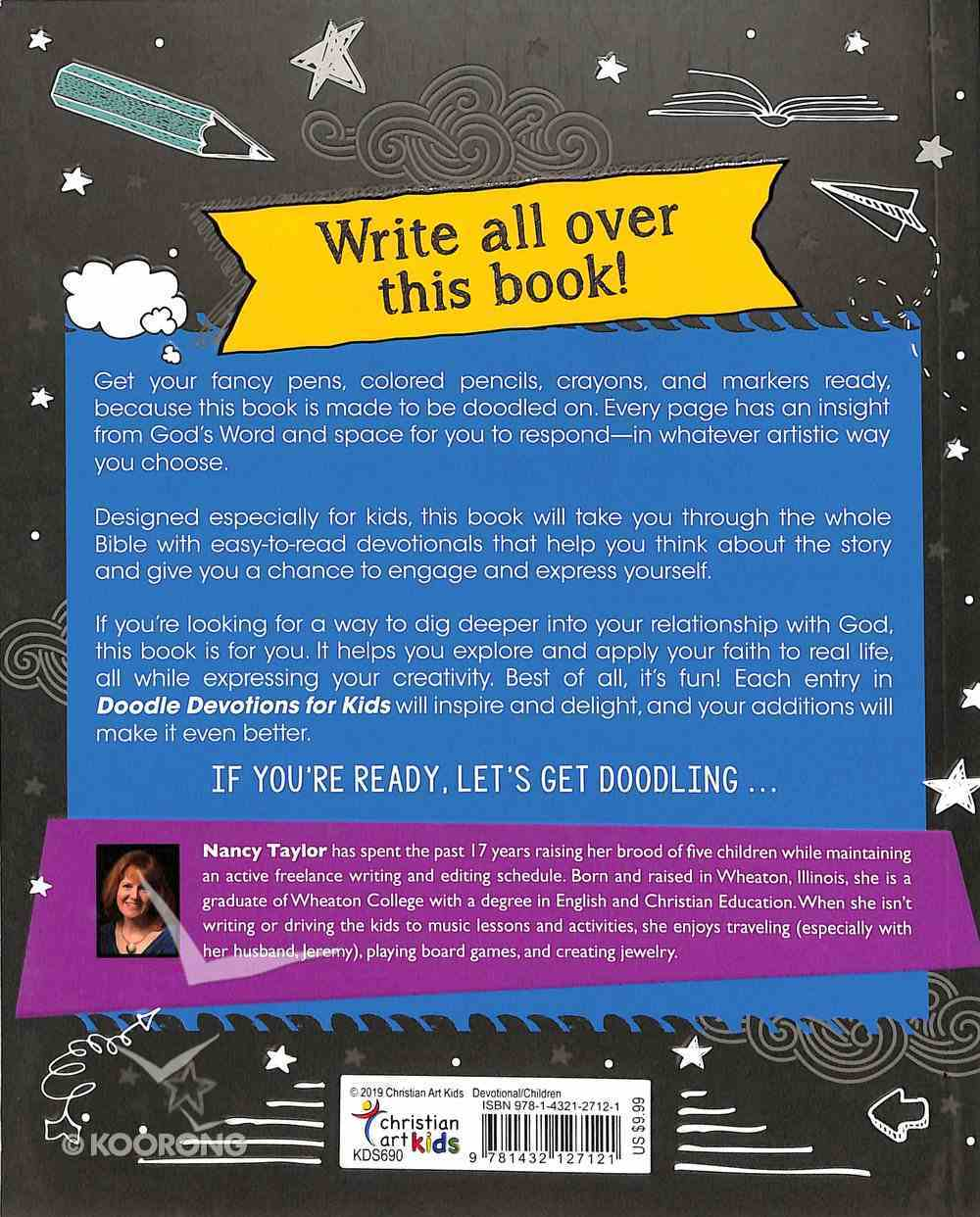 Doodle Devotions For Kids: 60 Devotions, Activities and Colouring in Paperback