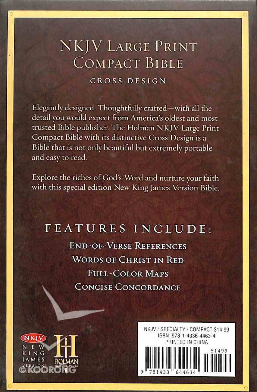 NKJV Large Print Compact Reference Bible Celtic Cross Imitation Leather