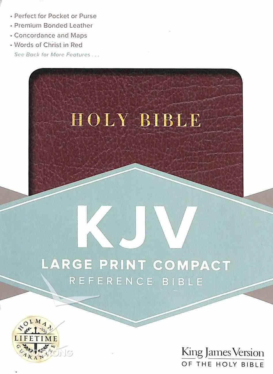 KJV Large Print Compact Reference Bible Burgundy Bonded Leather