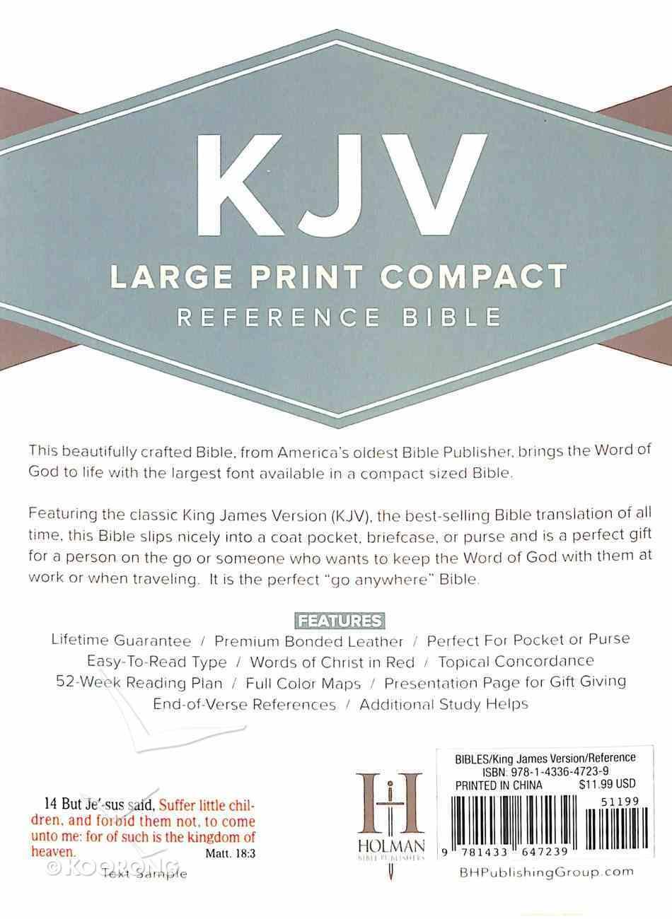 KJV Large Print Compact Reference Bible Black Bonded Leather
