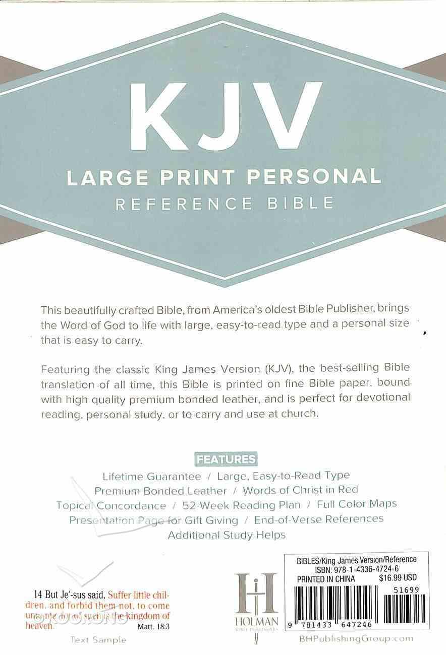 KJV Large Print Personal Reference Bible Black Bonded Leather