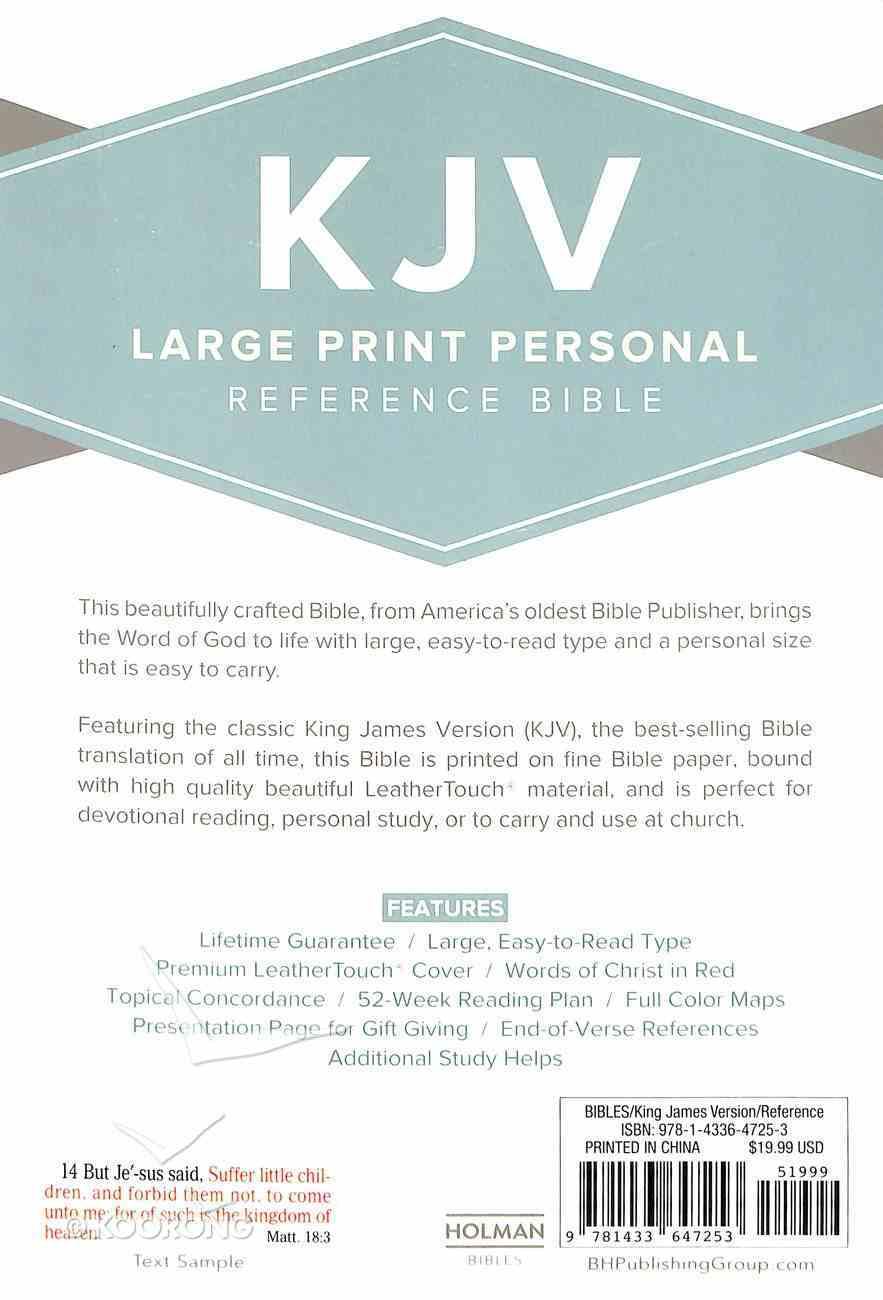 KJV Large Print Reference Bible Brown Imitation Leather