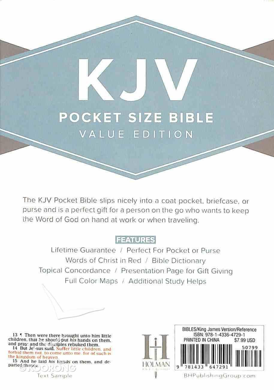 KJV Pocket Size Bible Black Imitation Leather