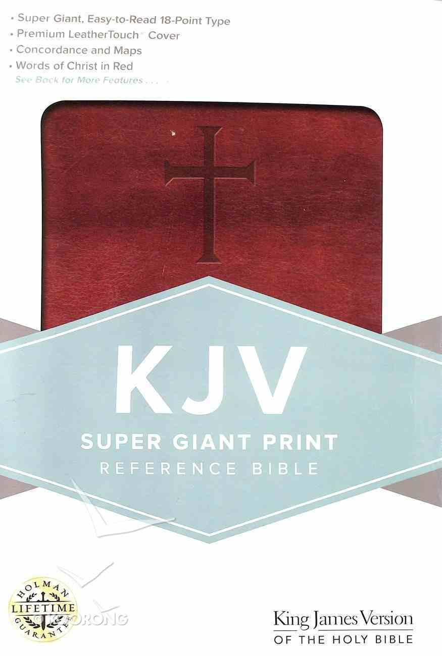 KJV Giant Print Reference Bible Brown Imitation Leather
