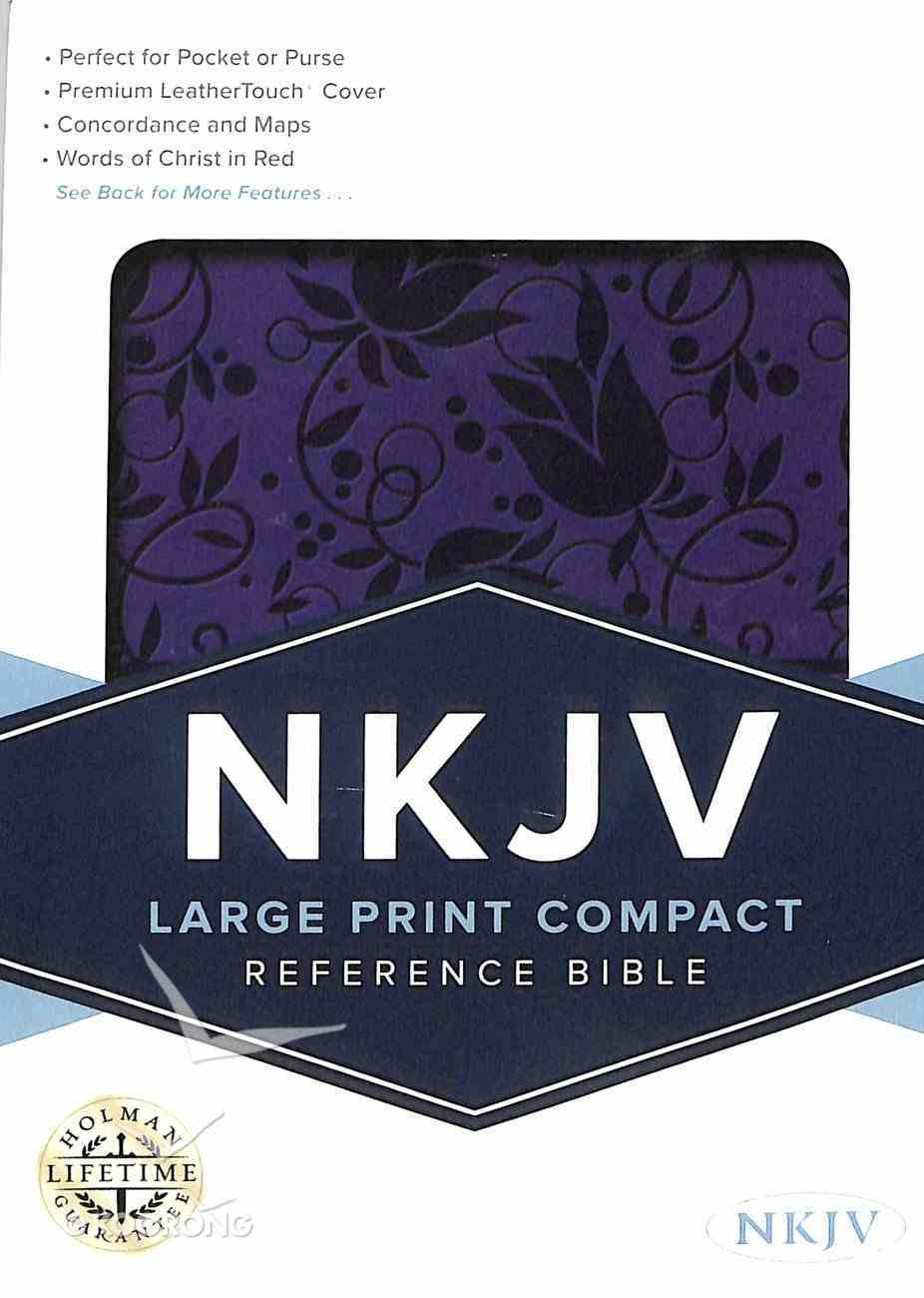 NKJV Large Print Compact Reference Bible Purple Red Letter Edition Imitation Leather