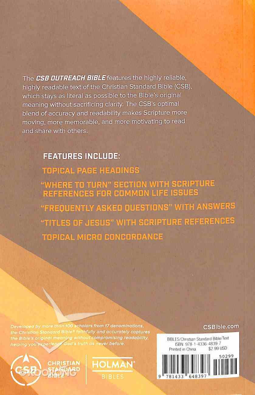 CSB Outreach Bible Paperback