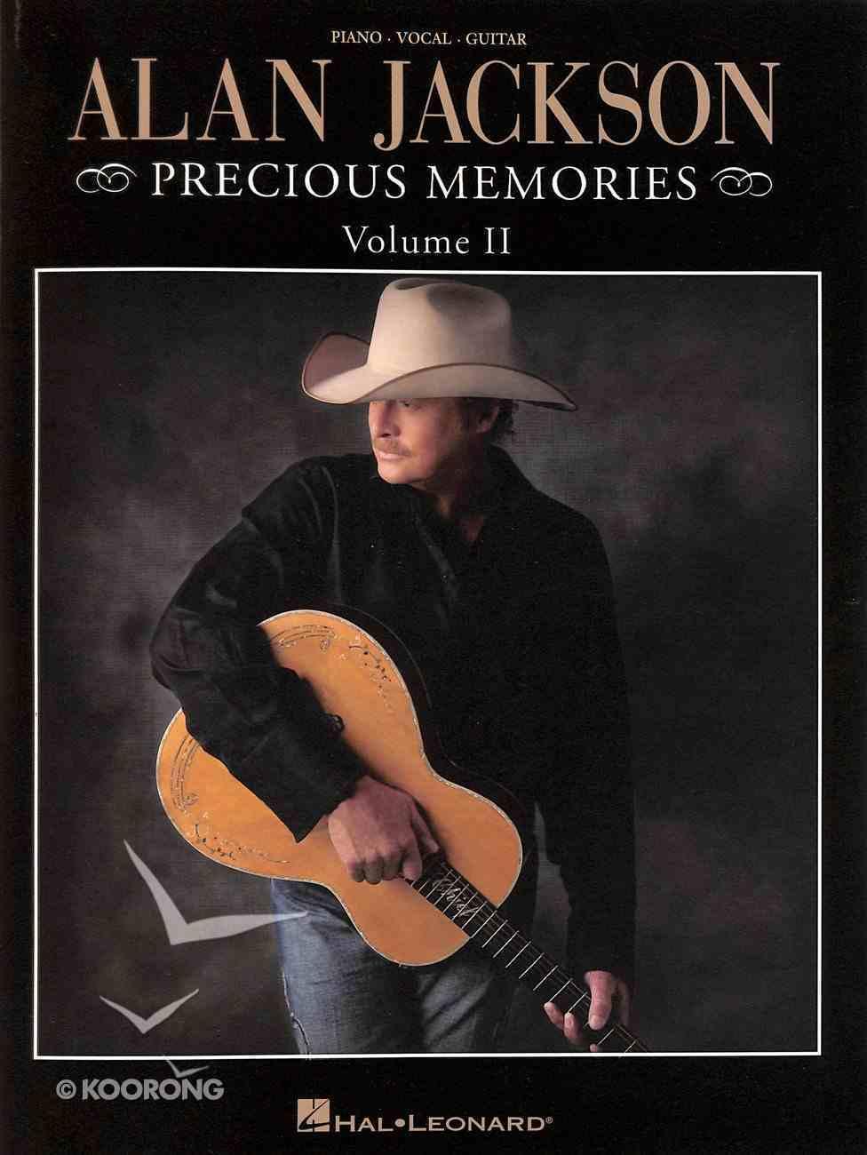 Alan Jackson Precious Memories (Piano, Vocal & Guitar) (Music Book) (Vol 2) Paperback