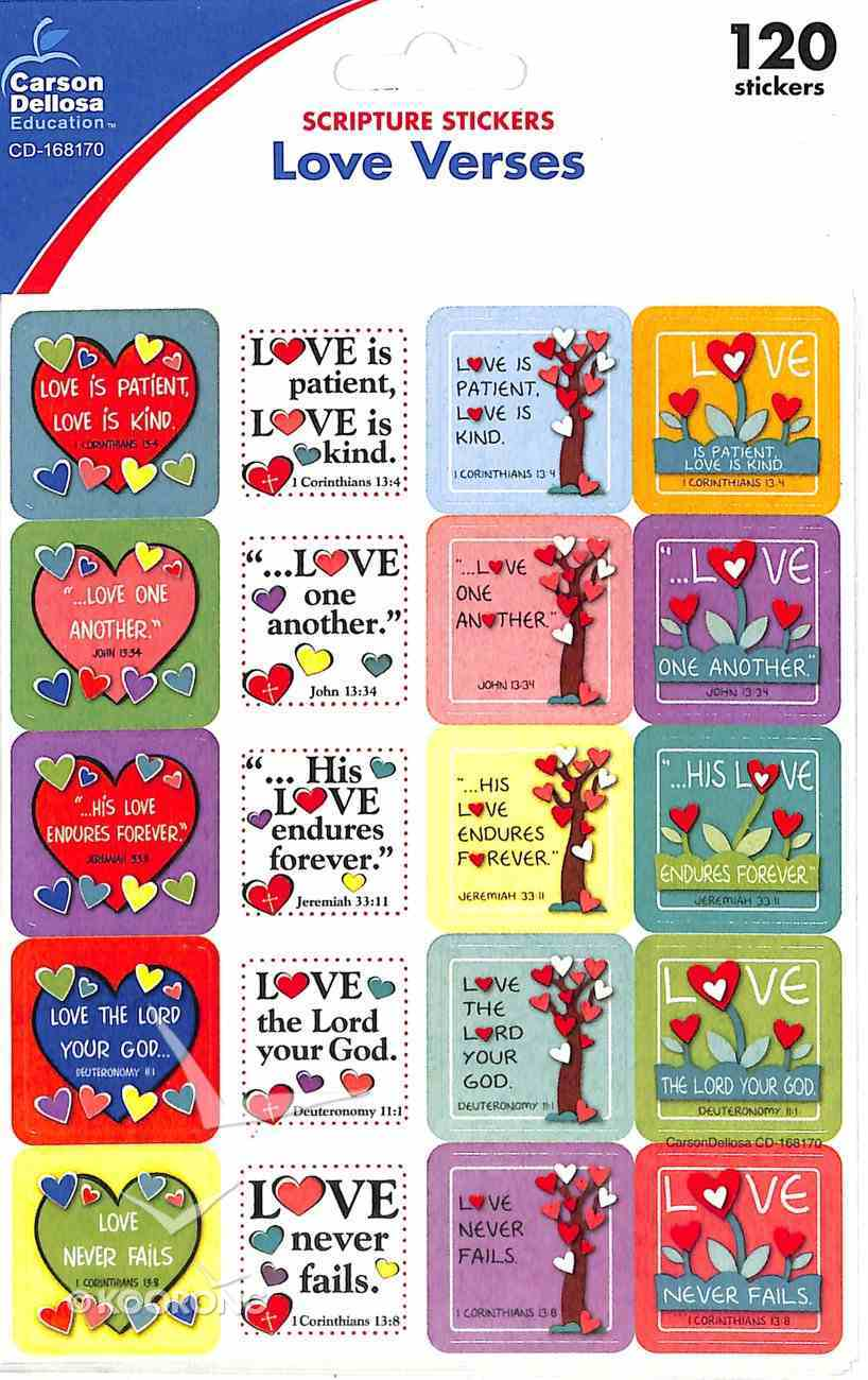 Sticker Pack: Love Verses (120 Stickers Per Pack) Novelty