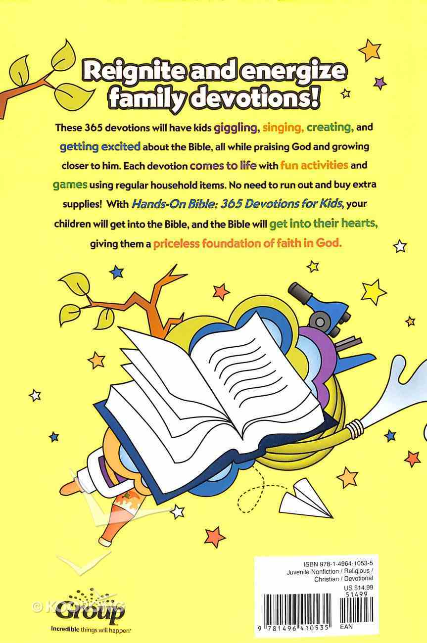 Hands-On Bible 365 Devotions For Kids: Faith-Filled Activities For Families Paperback