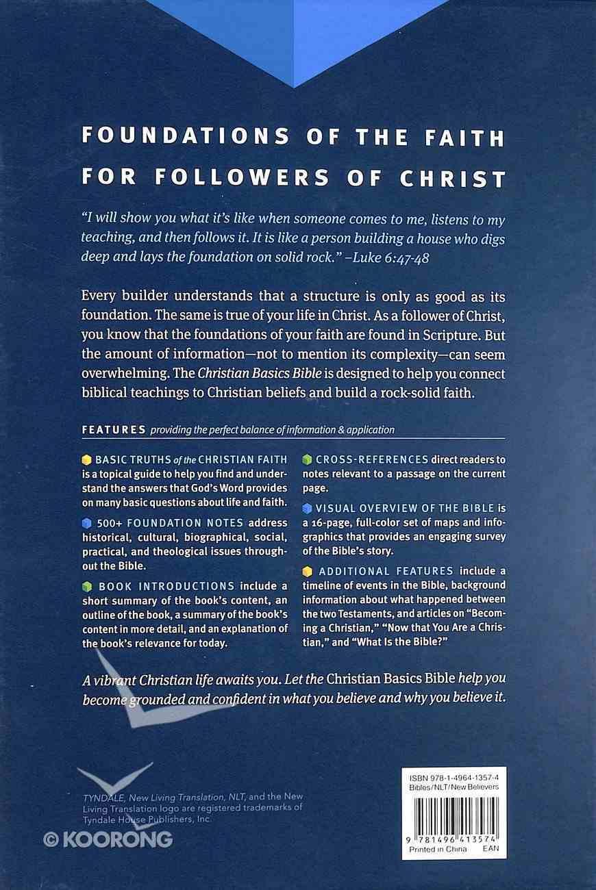 NLT Christian Basics Bible Brown/Tan (Black Letter Edition) Imitation Leather