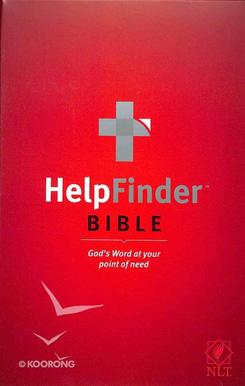 NLT Helpfinder Bible (Red Letter Edition) Hardback