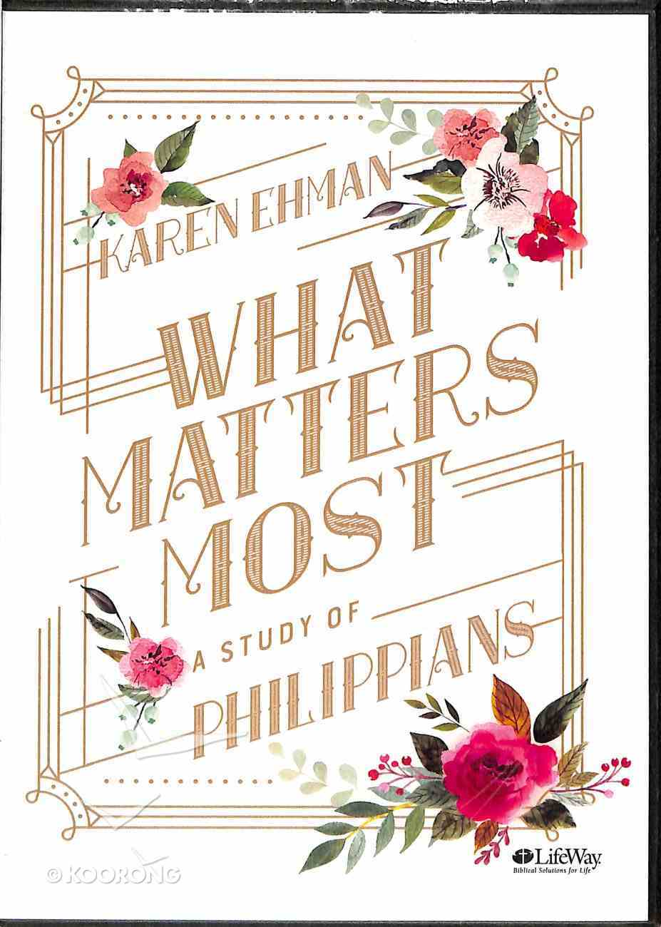 What Matters Most (2 Dvds): A Study of Philippians (Dvd Only Set) DVD