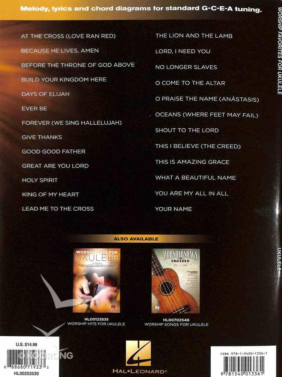 Worship Favorites For Ukulele: 25 Songs to Strum & Sing (Music Book) Paperback