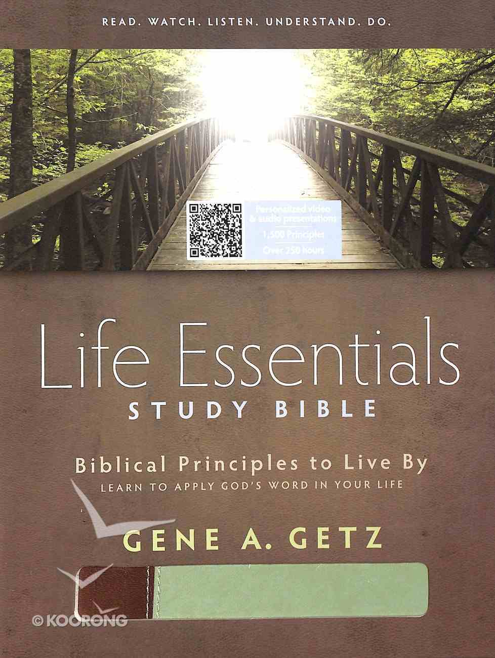 HCSB Life Essentials Study Bible Brown/Green Imitation Leather