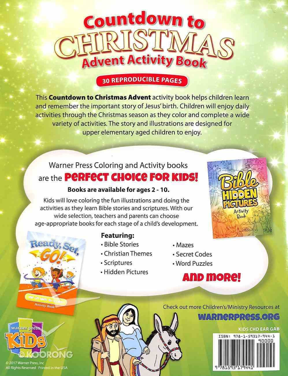 Activity Book: Countdown to Christmas (Reproducible) Paperback