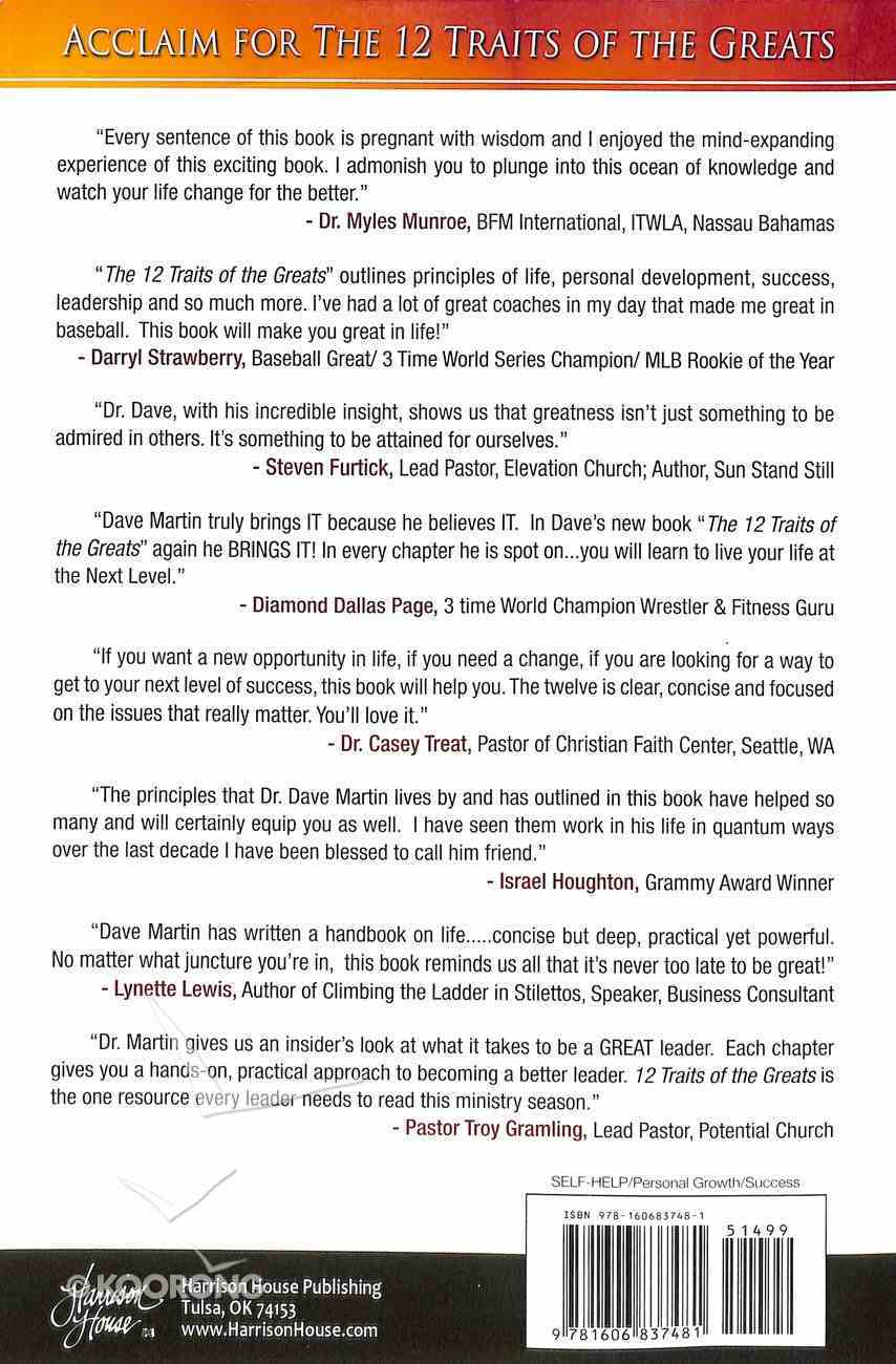 The 12 Traits of the Greats Paperback