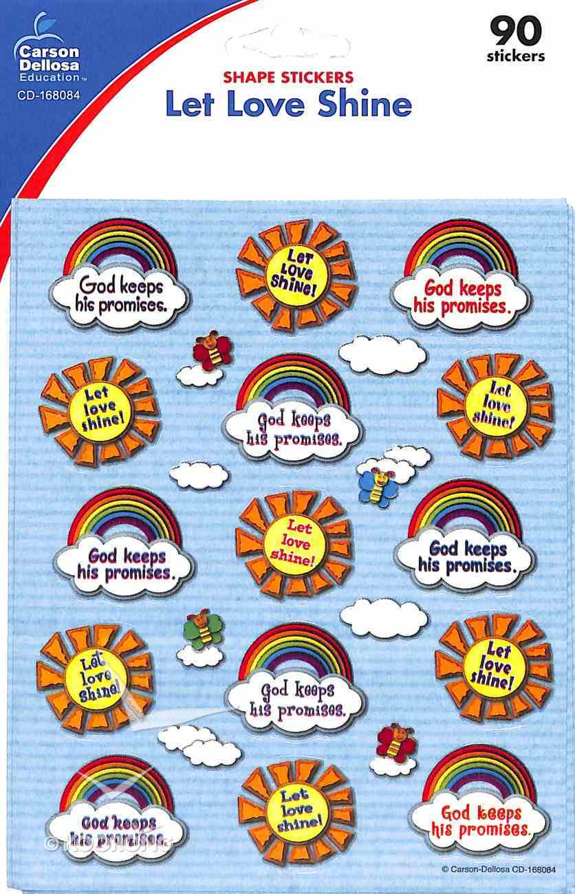 Sticker Pack: Let Love Shine Shape Stickers Novelty