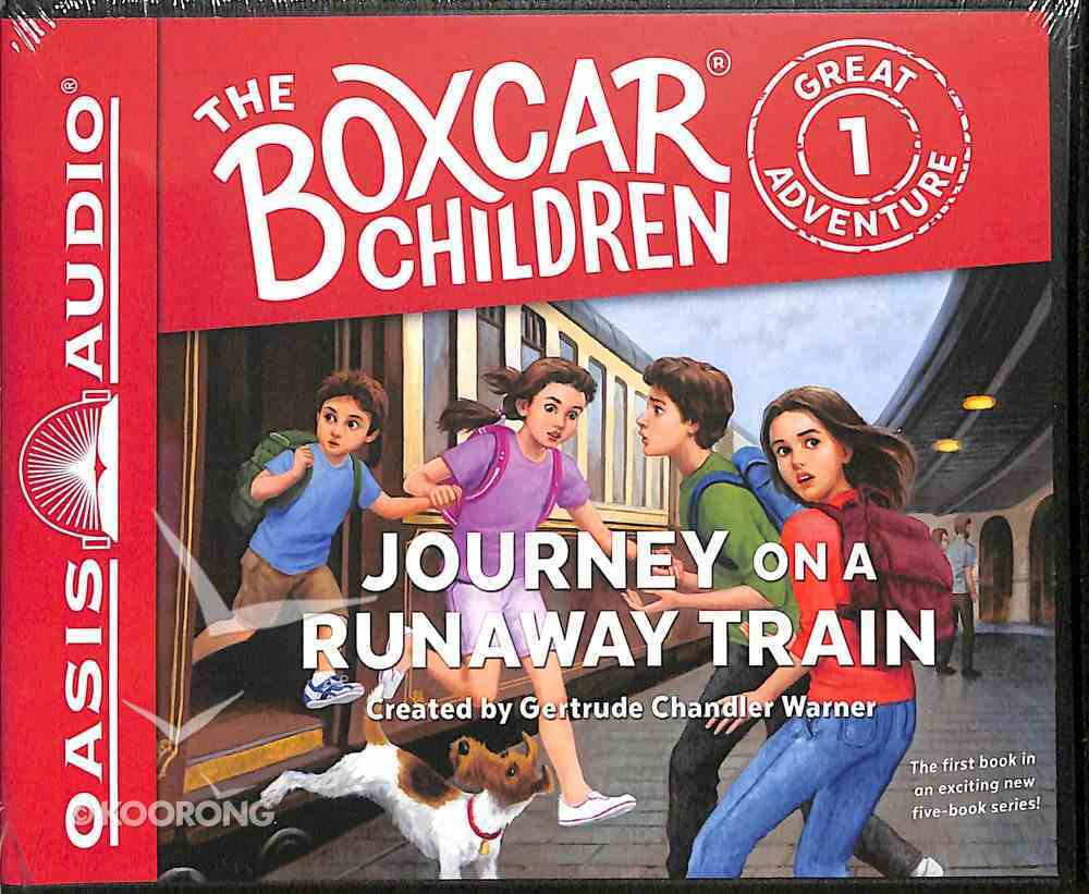 Journey on a Runaway Train (Unabridged, 2 CDS) (#01 in Boxcar Children Great Adventure Audio Series) CD