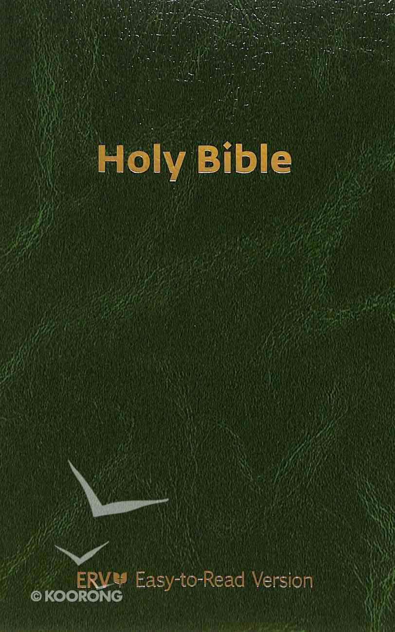 ERV Holy Bible Green (Black Letter Edition) Imitation Leather