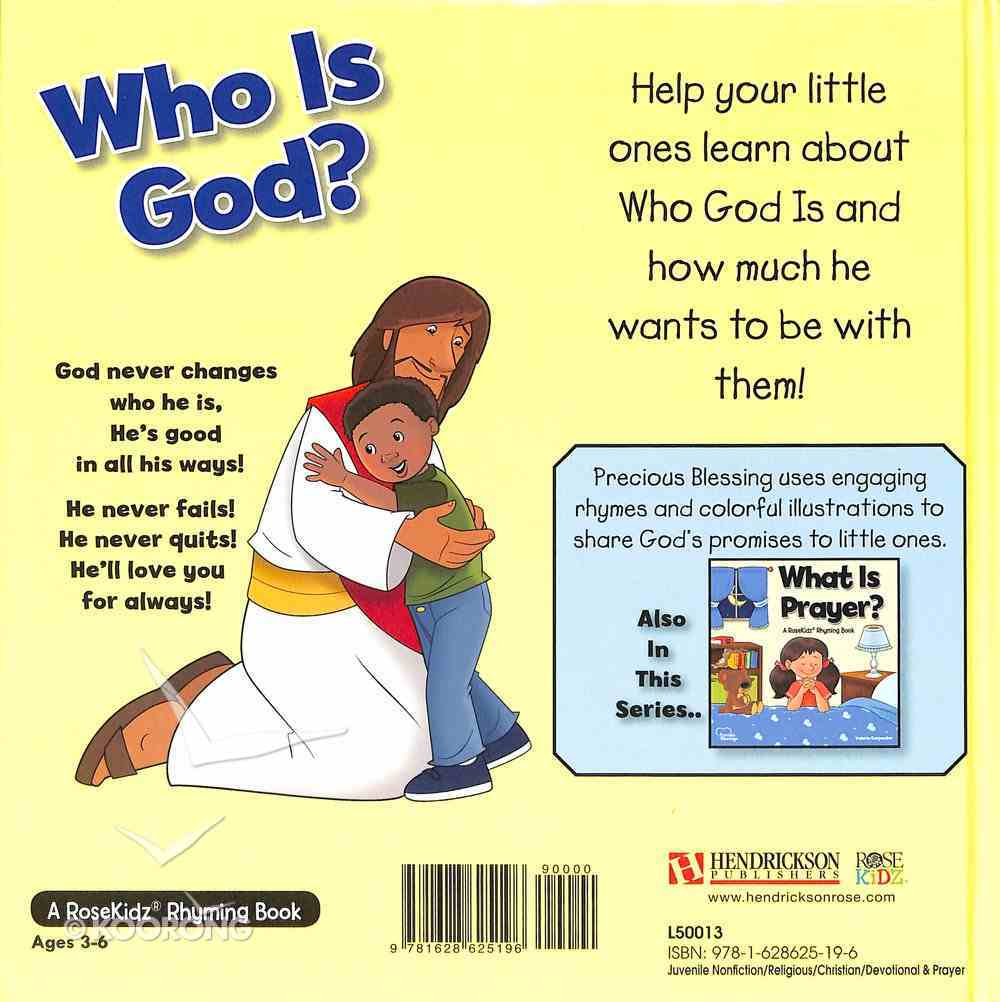 Who is God? (Precious Blessings Series) Hardback