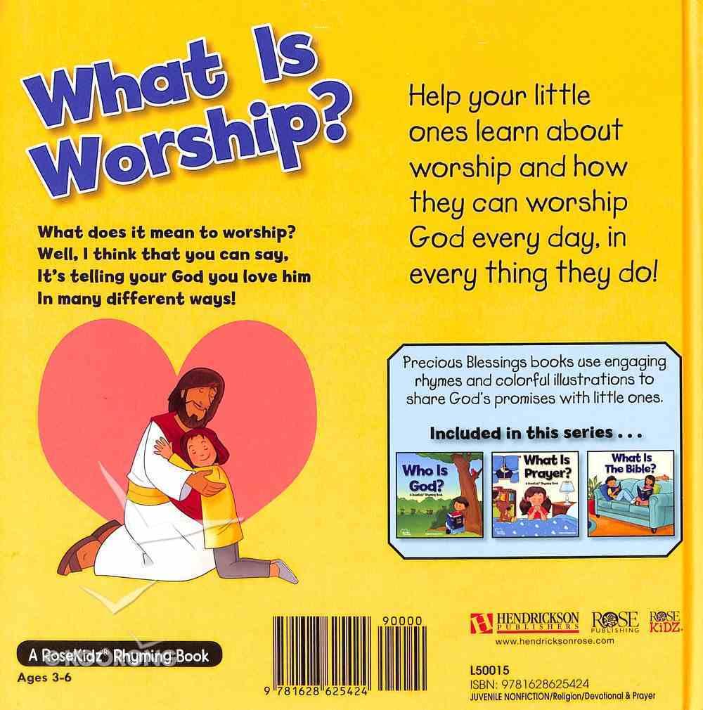 What is Worship? (Precious Blessings Series) Hardback