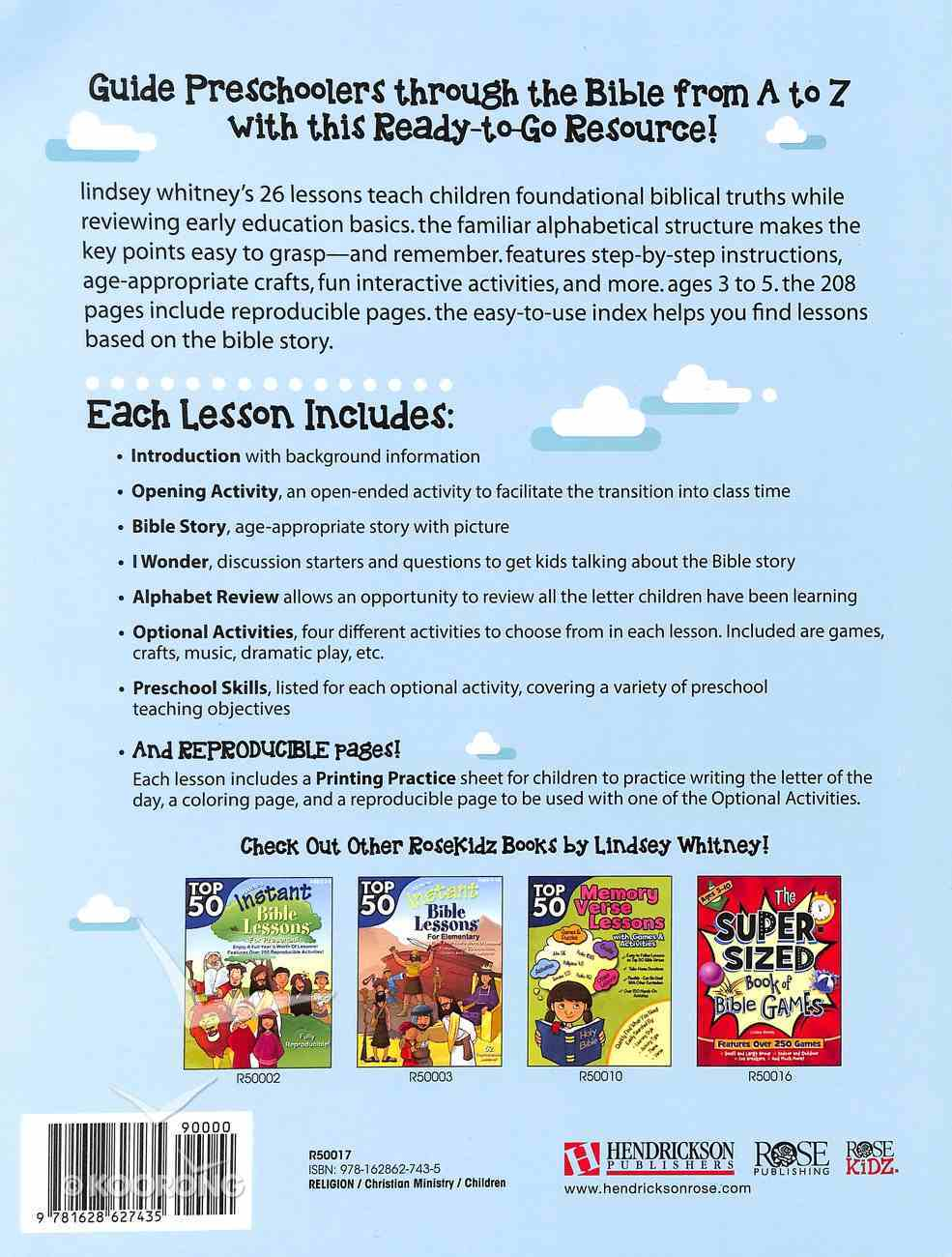 A to Z Thru the Bible (For Preschoolers) (Instant Bible Lessons Series) Paperback