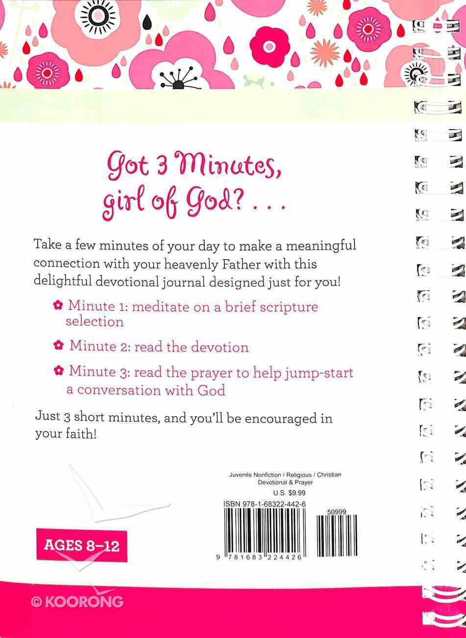 3-Minute Devotions For Girls Journal Spiral