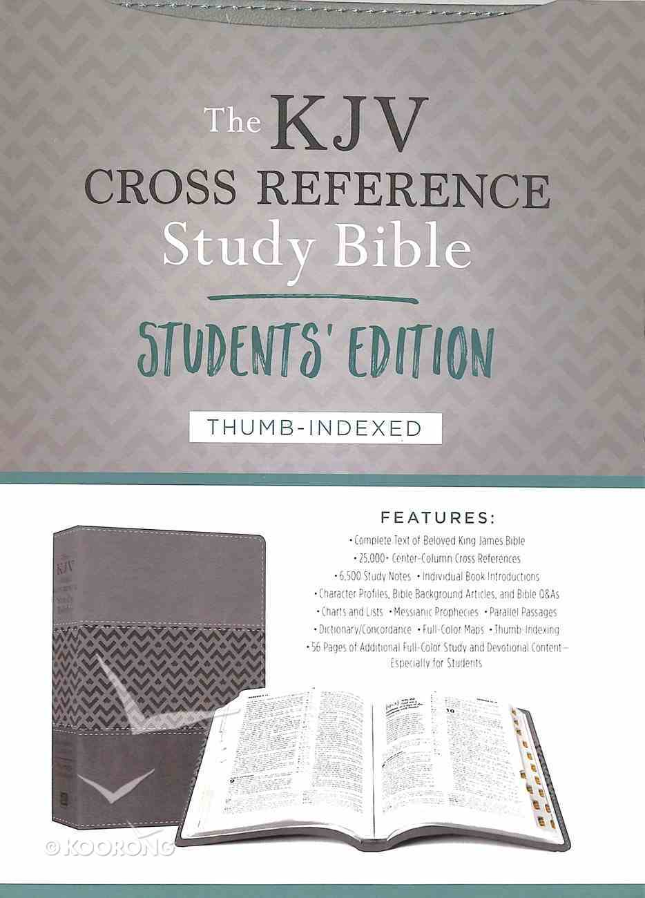KJV Cross Reference Study Indexed Bible Students' Edition Charcoal Imitation Leather