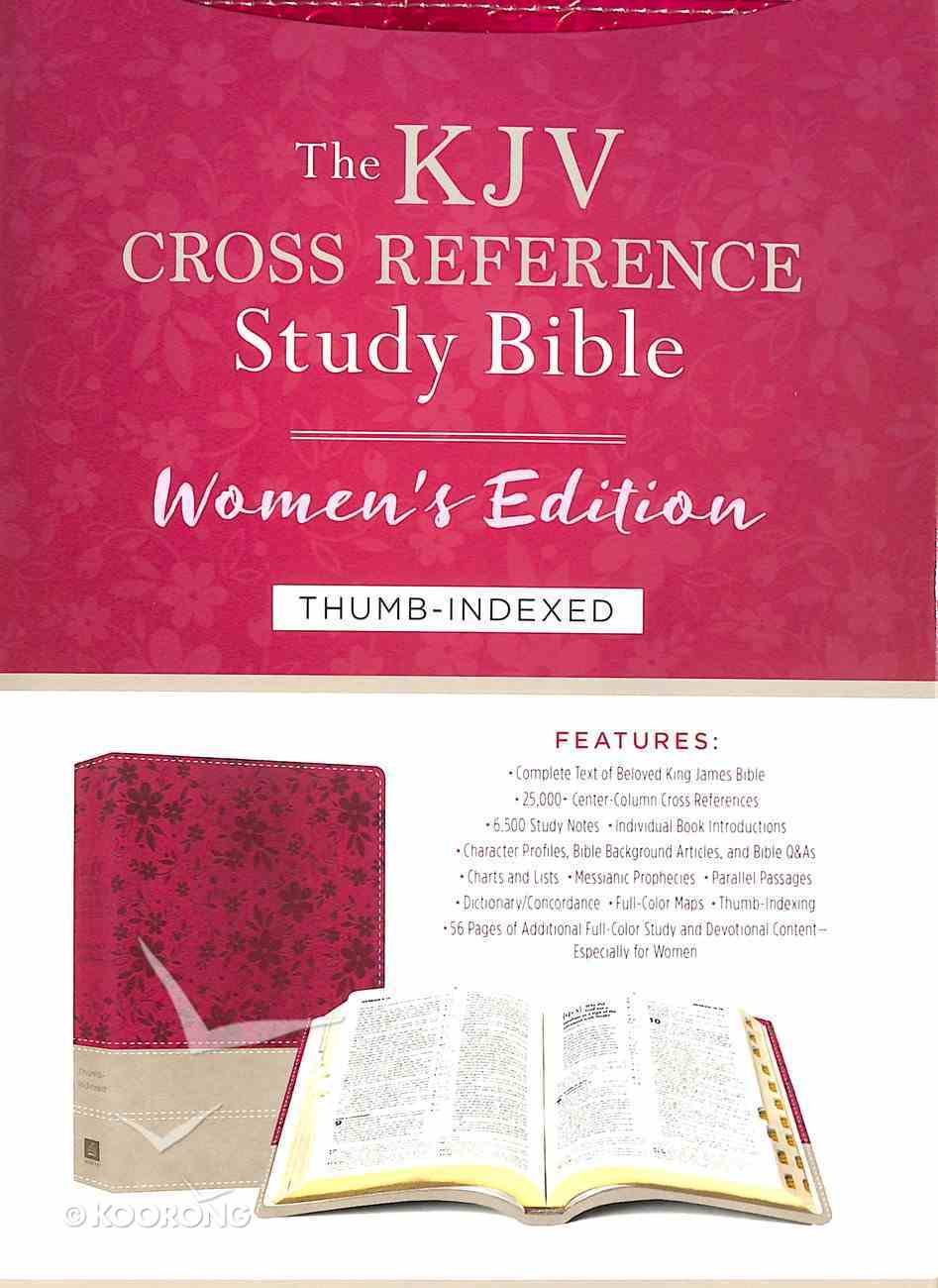 KJV Cross Reference Study Indexed Bible Women's Edition Floral Berry Imitation Leather