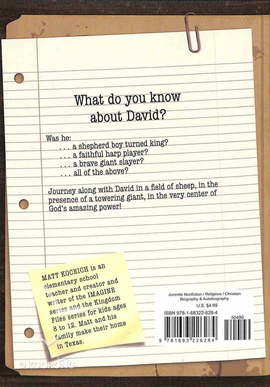 Who Was David? (Kingdom Files Series) Paperback