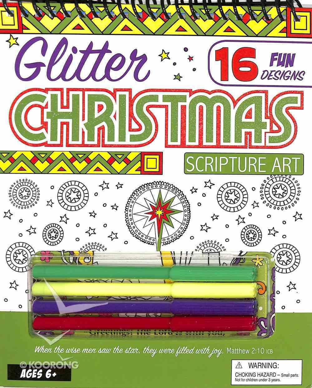 Glitter Christmas Scripture Art: 16 Fun Designs Spiral