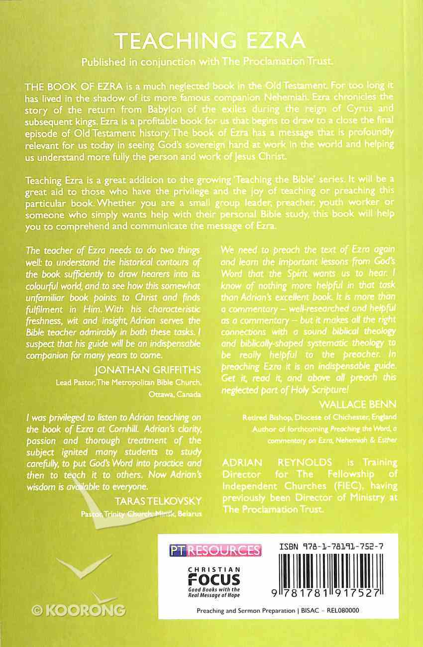 "Teaching Ezra (Proclamation Trust's ""Preaching The Bible"" Series) Paperback"