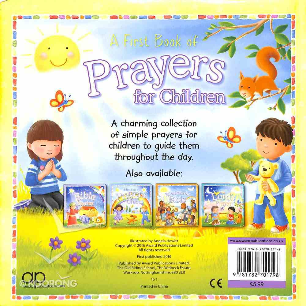 First Book of Prayers For Children Padded Board Book