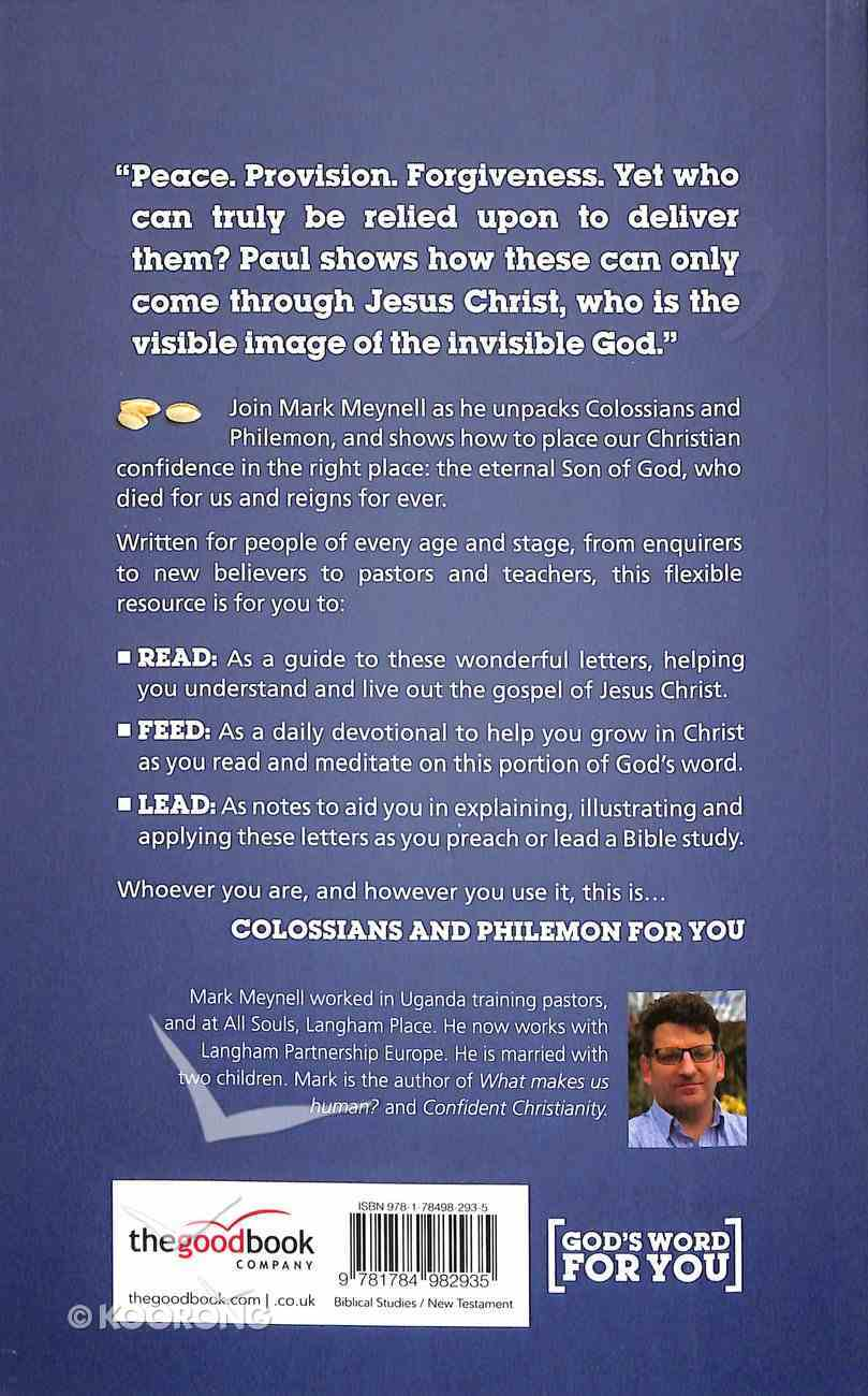 Colossians and Philemon For You (God's Word For You Series) Paperback