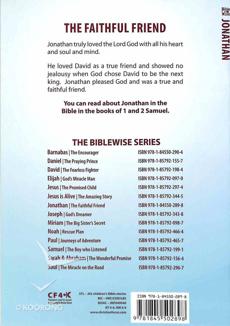 Jonathan, the Faithful Friend (Bible Wise Series) Paperback