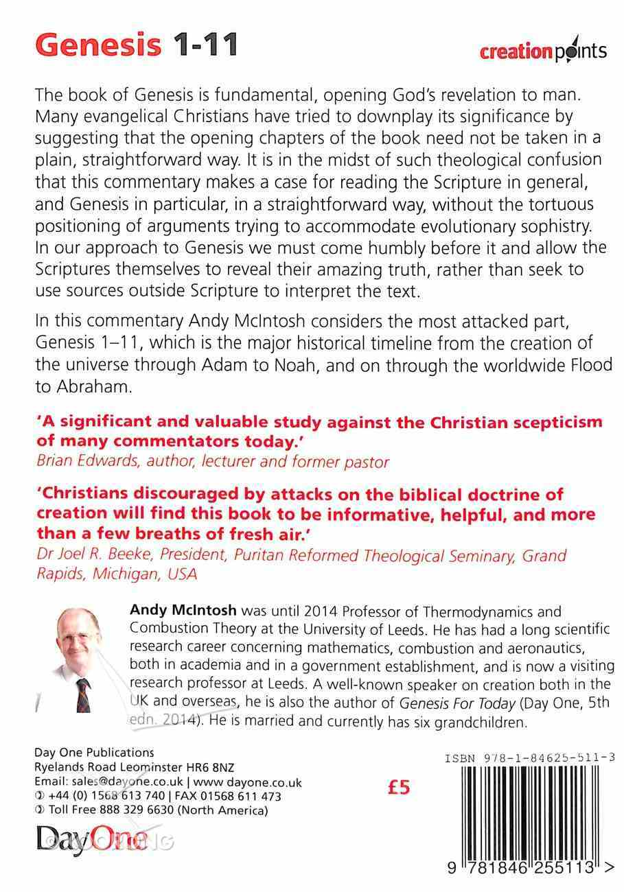 Genesis 1-11 - a Verse By Verse Commentary (Creation Points Series) Paperback