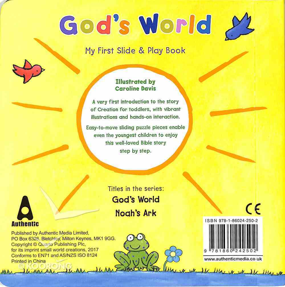 My First Slide and Play: God's World Board Book